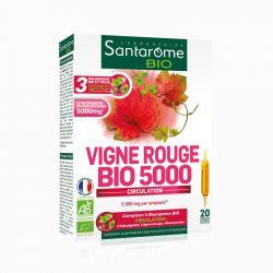SANTAROME BIO Vigne rouge bio 20 ampoules 10ml