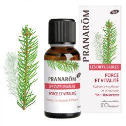 Difusión de la mezcla orgánica de Pranarom Strength and Vitality 30 ml