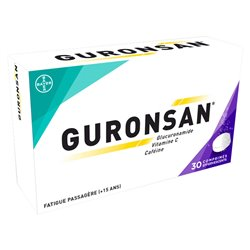 Guronsan 30 comprimés effervescents Fatigue passagère