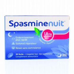 Spasmine Nuit enrichie en mélatonine 30 comprimés