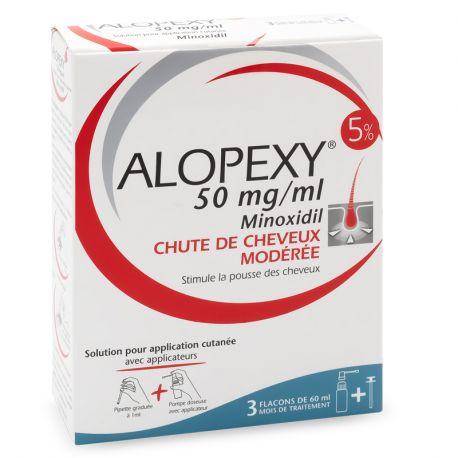 Alopexy 5% solución de minoxidil 3x60ML