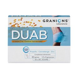 DUAB التهاب المثانة 20 كبسولات Nutrivercell