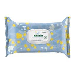 KLORANE Zachte reinigingsdoekjes voor baby's, 70 doekjes