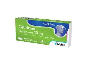 ALLERGY 10MG TABLETS CETIRIZINE 7 Mylan
