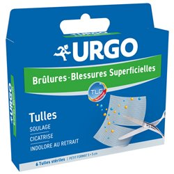 URGO BURNS WOUNDS SURFACE 6 TULLES SMALL