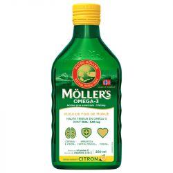 Mollers Huile de Foie de Morue Liquide Citron 250 ml
