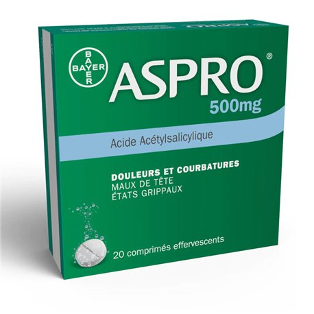 ASPRO 500MG aspirine pijnstiller