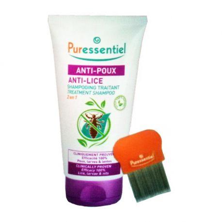 Puressentiel Shampooing traitant 2-en-1 anti-poux 150ml