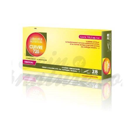 Labcatal Nutrition Oligosol koper (Cu) 28 LAMPEN Mineralen & Trace Elements