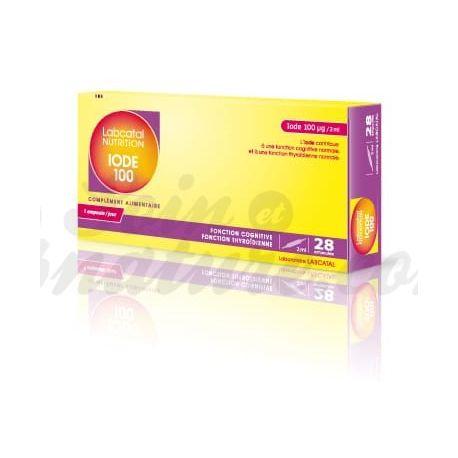 Labcatal nutrition Oligosol IODE 100MG / 2ML 28 BOLLEN Mineralen & Trace Elements