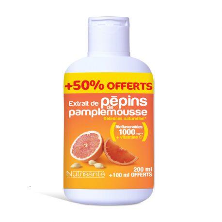 Nutrisanté Extrait de Pépin de Pamplemousse 200ml +100 ml OFFERT