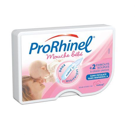 PRORHINEL Mouche bébé + 2 embouts jetables souples
