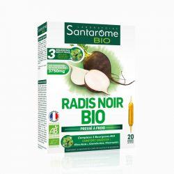 Santarome bio radis noir detox solution buvable 20 ampoules 10 ml