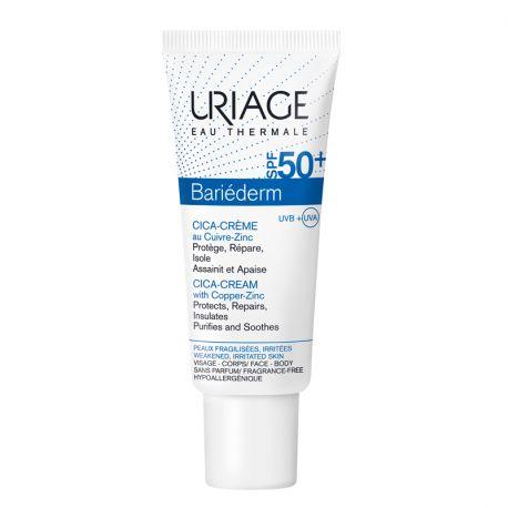 Uriage bariederm cica crème réparatrice spf50+ 40ml