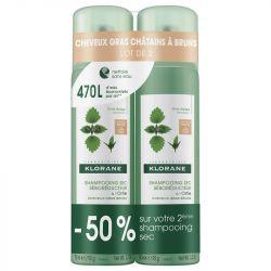 KLORANE Shampoing sec ORTIE Teinté pour cheveux CHATAIN À BRUNS