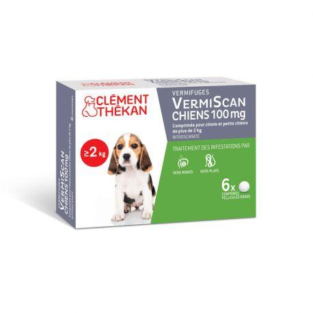 Vermífugo FILHOTES DE CACHORRO Vermiscan Clément Thékan 6 comprimidos