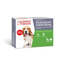 VermiScan Scanil Vermifuge Dogs Clément Thékan 4 Tabletten
