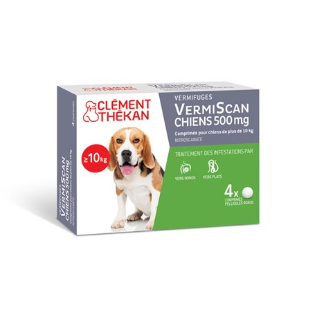 VermiScan Scanil Vermifuge Dogs Clément Thékan 4 Tablets