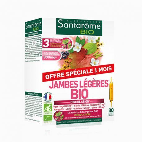 SANTAROME BIO lichte benen 20 ampullen 10ml