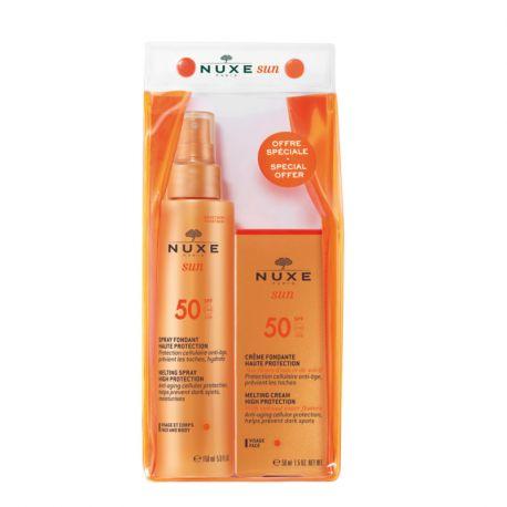 Kit de rosto e corpo Nuxe Sun SPF50 2019