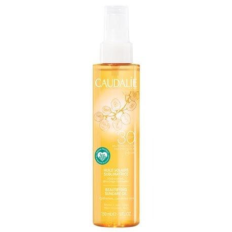 CAUDALIE сублимирующее солнечное масло SPF30