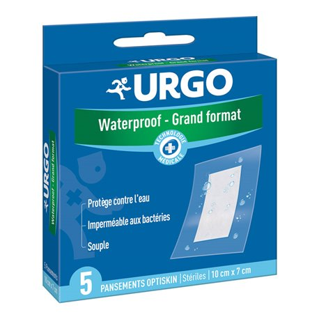 URGO pansements Waterproof grand format x5