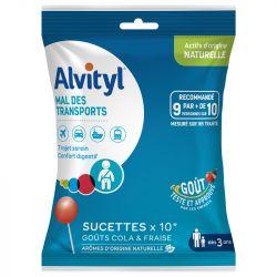 Alvityl Mal des Transports 10 Sucettes