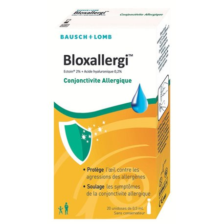 BLOXallergi collyre prévention allergie 20 unidoses