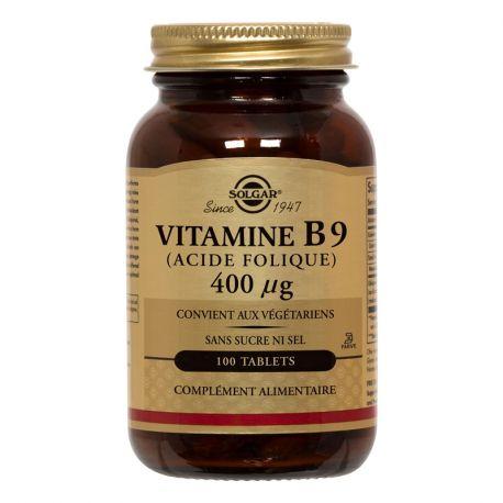 SOLGAR Vitamine B9 Acide Folique 400 µg 100 Comprimés