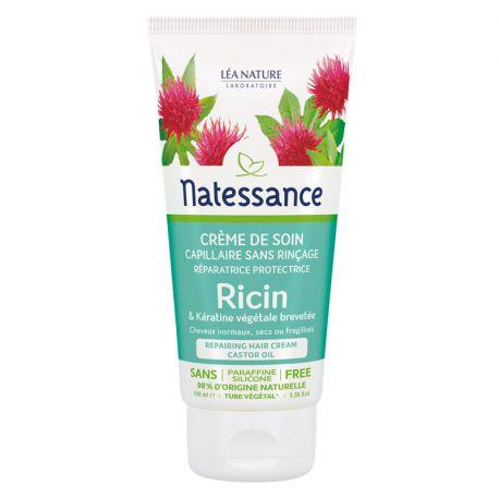 Natessance Ricin Crème de soin capillaire Sans rinçage 100ml