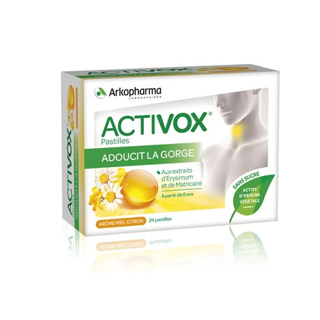 Activox Honey Lozenges soothing lemon sugar