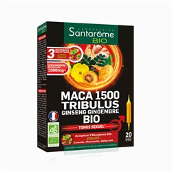 Santarome Bio Maca 1500 Tribulus Ginseng Gingembre Tonus Sexuel