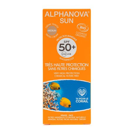 Alphanova SUN BIO SPF50 + Sonnenschutz getönt 50G