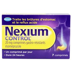Nexium control 20 mg ésoméprazole comprimé gastro-resistant