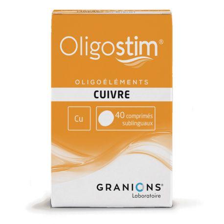 OLIGOSTIM CUIVRE Cu 40 comprimés Granions