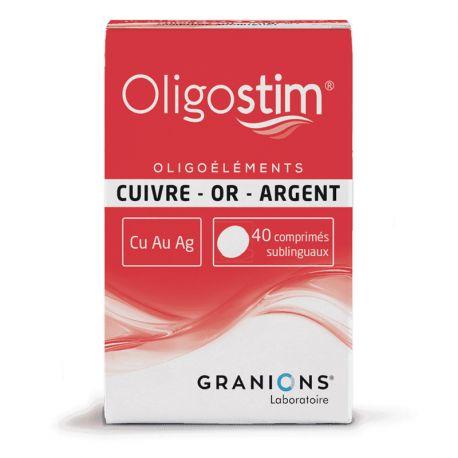 OLIGOSTIM CUIVRE OR ARGENT Cu-Au-Ag 40 Comprimés GRANIONS