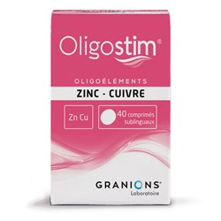 OLIGOSTIM ZN-CU 40 comprimidos Granions