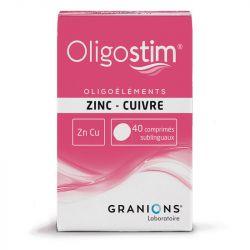 OLIGOSTIM ZN-CU 40 أقراص Granions
