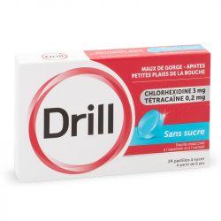 DRILL Mint 24 pastillas para el dolor de garganta