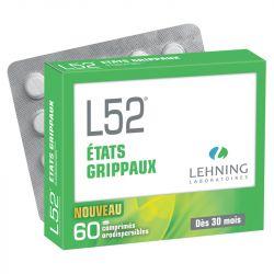 Lehning L52 Etats Grippaux 60 Comprimés Orodispersibles