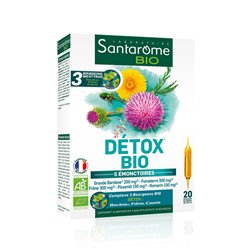 SANTAROME BIO détox bio 20 ampoules 10 ml