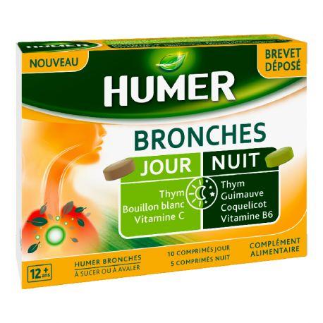 HUMER Bronches dia noite 15 comprimidos