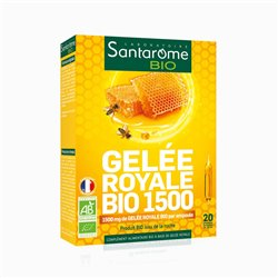SANTAROME BIO Royal jelly bio 1500 20 ampullen 10ml