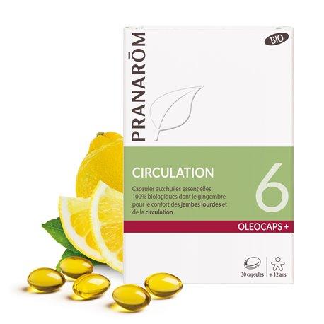 OLEOCAPS 6 Pranarom BIO-circulatie (lichte benen) 30 capsules