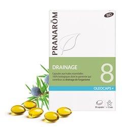 OLEOCAPS 8 Pranarom BIO Drenaje (drenaje de desintoxicación) 30 cápsulas