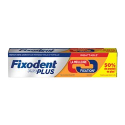 Crème adhésive prothèse dentaire Fixodent Pro Plus Duo Action 60 g