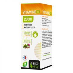 Sante verte Vitamine D3 200UI Défences Naturelles