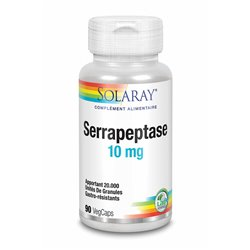 SOLARAY SERRAPEPTASE 10mg 90 capsules