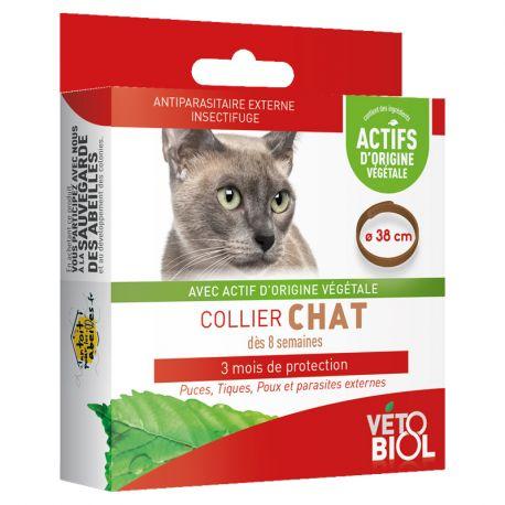 Vetobiol Collier Chat Antiparasitaire Naturel