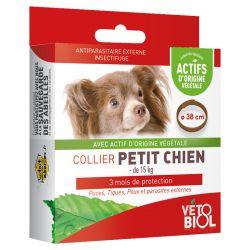 -15kg Vetobiol Collar natural del pequeño perro de plagas